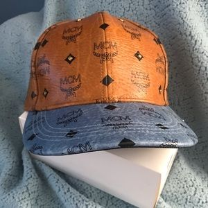 MCM Studded Two toned Visetos Cap